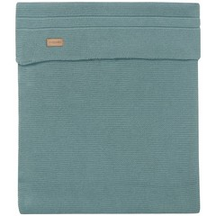 NOPPIES nos baby bed deken knit nola  120x120 cm dark green
