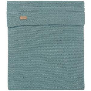 NOPPIES nos cradle deken knit norcia 75x100 cm dark green