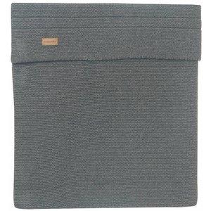 NOPPIES nos cradle deken knit norcia 75x100 cm dark grey melange