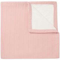 NOPPIES nos baby bed deken sweat noto 120x120 cm old pink