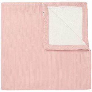 NOPPIES nos baby bed deken sweat noto 120x120 cm old pink