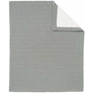 NOPPIES nos cradle deken sweat noceto 75x100 cm dark grey melange