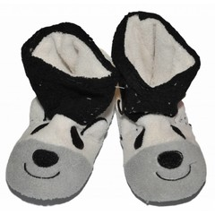 APOLLO pantoffels offwhite met zwart