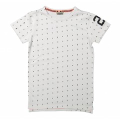 DJ DUTCHJEANS t-shirt extra long face the track white a.o.p.