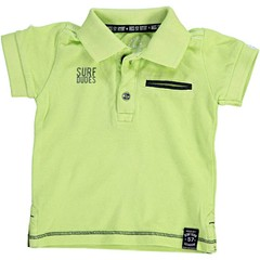 BORN TO BE FAMOUS jongens polo neon lime