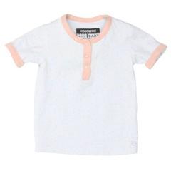 MOODSTREET jongens baby short sleeves allover printed t-shirt misty blue dot