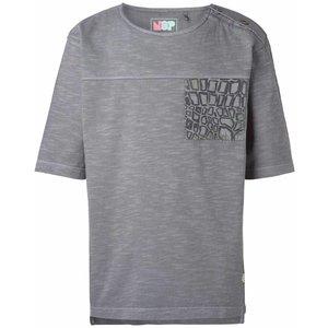 Nop t-shirt lyndon donker grijs