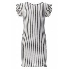 Miss Sophie's jurk ruffle petit sophie licht grijs
