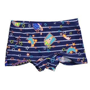 LENTIGGINI jongens zwembroek navy/neon oranje