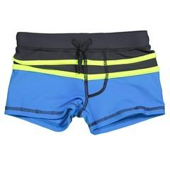 LENTIGGINI jongens zwembroek antraciet/neon yellow/cobalt
