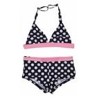 LENTIGGINI meisjes bikini halter bow aop navy white/pink