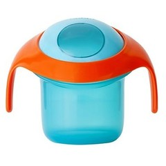 Boon snack container nosh blauw/oranje