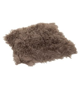 Haans Lifestyle Kussen wol schapenvacht bruin