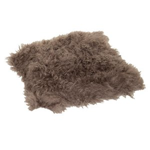 Haans Lifestyle Cushion wool sheepskin brown