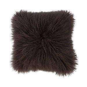 Haans Lifestyle Cushion wool sheepskin greybrown