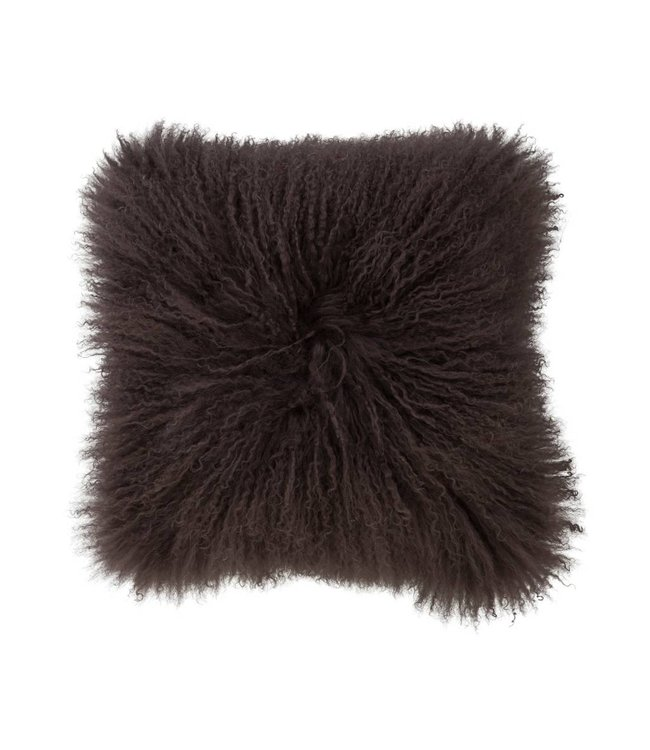 Haans Lifestyle Cushion wool sheepskin greybrown