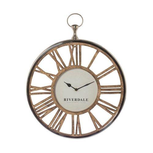 Riverdale Wall clock Luton silver 45cm