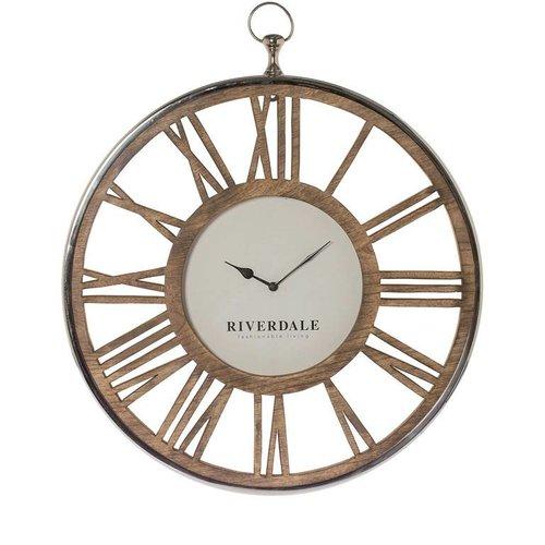 Riverdale Wall clock Luton silver 70cm