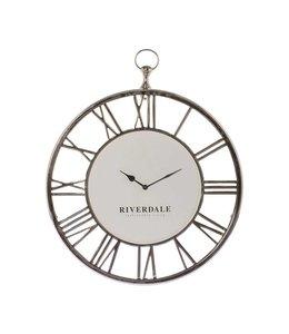 Riverdale Wall clock Luton silver 50cm