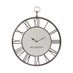 Riverdale Wandklok Luton zilver 50cm