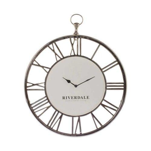 Riverdale Wanduhr Luton Silber 50cm