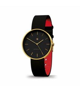 Newgate  Watch, The Drumline Gold und schwarzes Leder