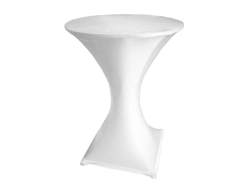 housse blanche pour table haute e surprice. Black Bedroom Furniture Sets. Home Design Ideas