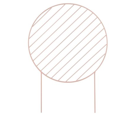 Ferm Living Planten rek Circle roze Ø46x65cm