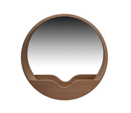 Zuiver Spiegel Round Wall eikenhout Ø40x8cm