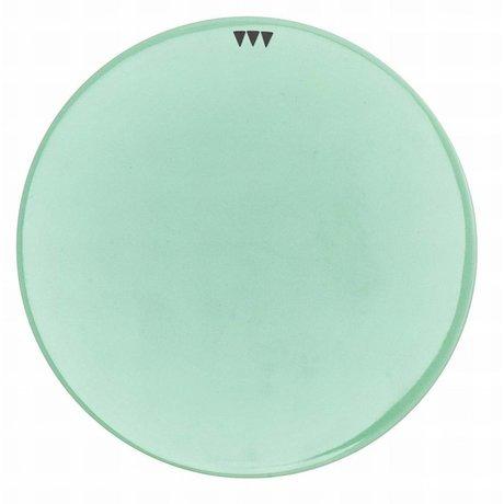 Ferm Living Schotel porselein diameter 15cm, Platter Mintgroen