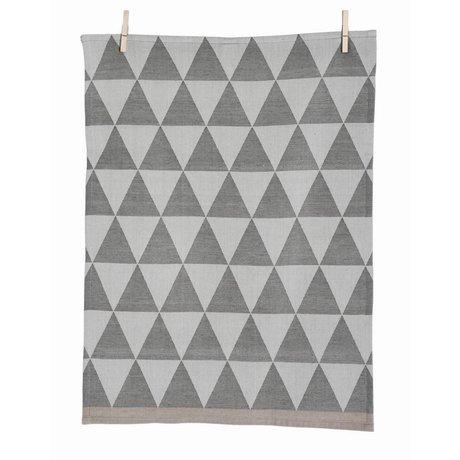 Ferm Living Theedoek Mountain Grey grijs katoen geweven 50x70cm