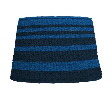 HK-living Lampenkap voor statief blauw gebreid katoen Ø45x32cm