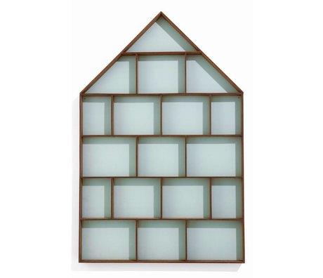 Ferm Living Letterbak groen/bruin multiplex 50x75cm, The dorm