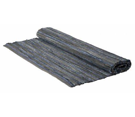 Storebror Vloerkleed blauw wol viscose 175x90cm