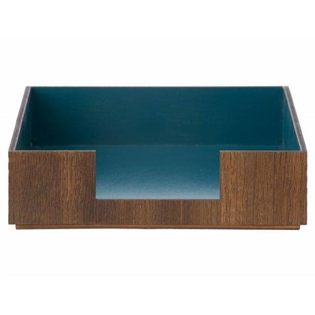 Ferm Living Postbak Letter Tray blauw/bruin 24x33cm