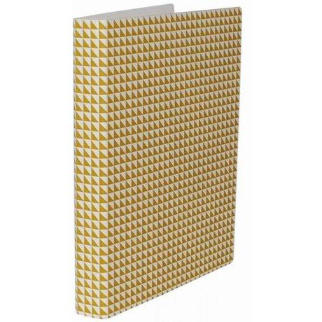 Ferm Living Ringband Yellow Binder geel 25x31.5cm