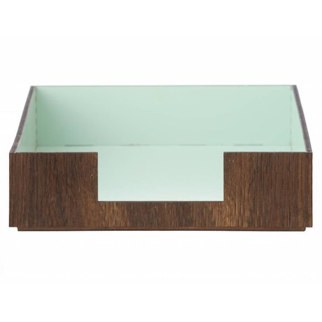 Ferm Living Postbak Letter bruin/licht blauw 24x33cm