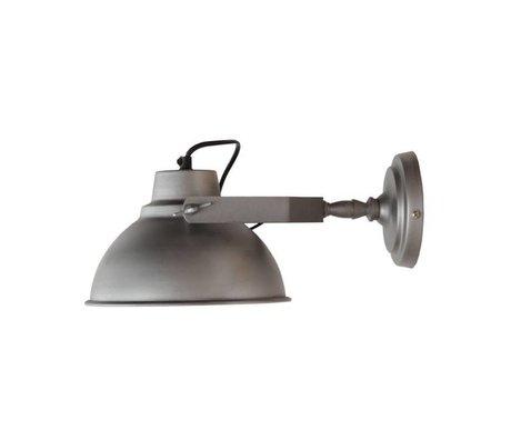 LEF collections Wandlamp Urban antiek grijs metaal Ø20cm