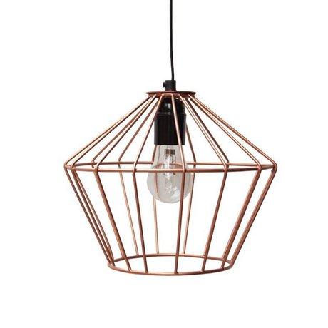LEF collections Hanglamp Wire koper metaal 21x21x25cm