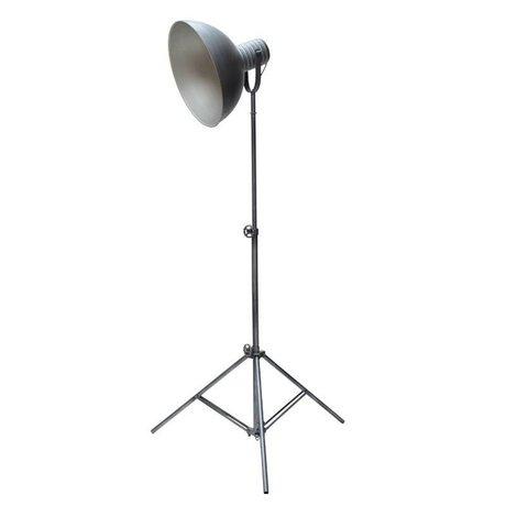 LEF collections Vloerlamp Urban antiek grijs metaal Ø41cm