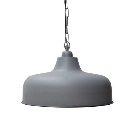 LEF collections Hanglamp Fabio grijs metaal ∅45x25cm