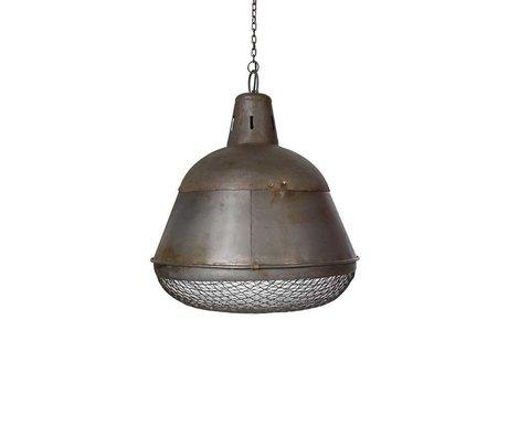 LEF collections Industrielamp Gaas zilver metaal 35x35x42cm