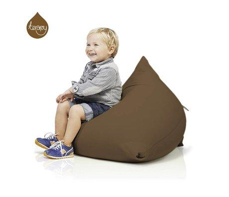 Terapy Zitzak Sydney pyramide bruin katoen 60x60x60cm 130liter