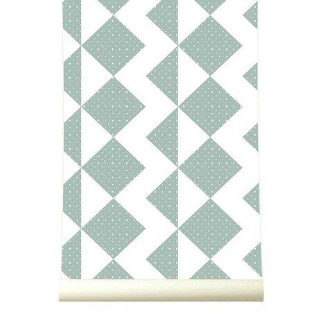 Roomblush Behang Zigzag zachtblauw papier 1140x50cm