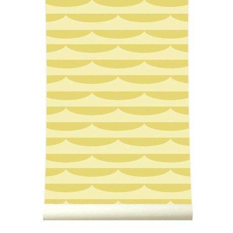 Roomblush Behang Storm geel papier 1140x50cm