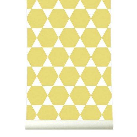 Roomblush Behang Stars geel wit papier 1140x50cm
