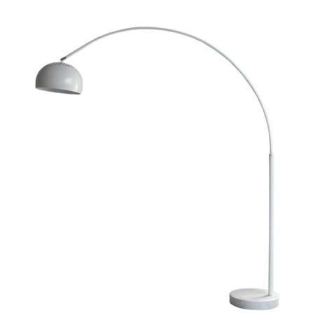 LEF collections Vloerlamp Bow wit metaal 35x170x200cm