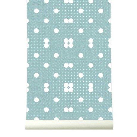 Roomblush Behang Dots zachtblauw wit papier 1140x50cm