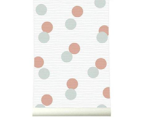 Roomblush Behang Confetti bruin grijs papier 1140x50cm