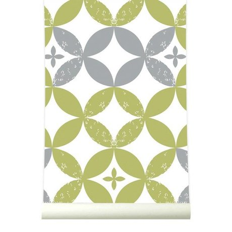 Roomblush Behang Visionary groen wit grijs papier 1140x50cm